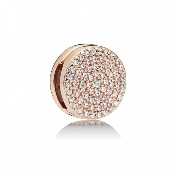 PANDORA Reflexions Fixed Clips Charm Dazzling Elegance Rose - 787583CZ