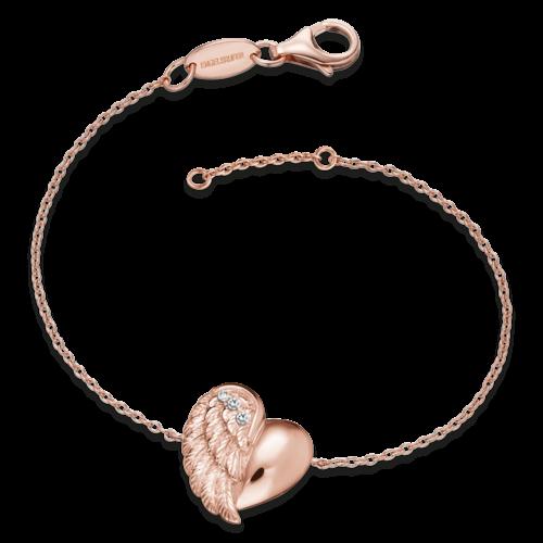 Armband Herzflügel Rosé-ERB - LILHEARTWING-R