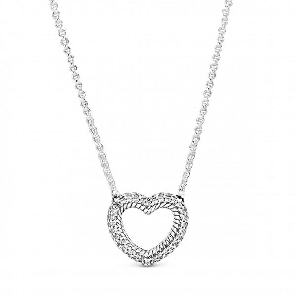 PANDORA Halskette Open Heart Pavé - 399110C01