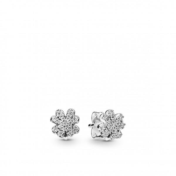 PANDORA Earring studs Radiant Clovers - 297944CZ