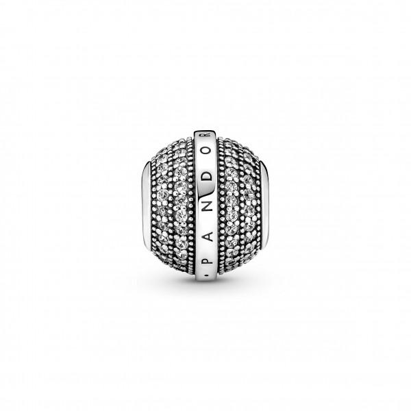 Pandora Charm Signatur Pavé & Logo - 799489C01