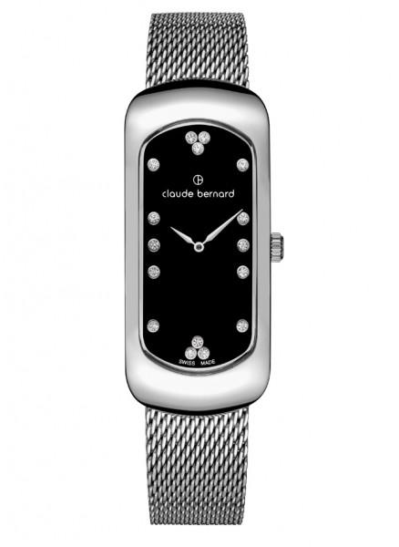 Claude Bernard Damenuhr Chloé Small Silver Black - 20227-3M-NPN