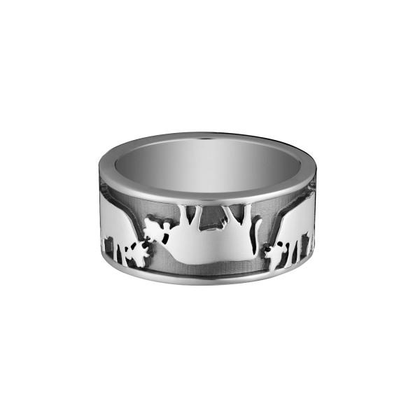 Gexist Swiss Edelweiss Ring Vice Versa Silber - R-9030