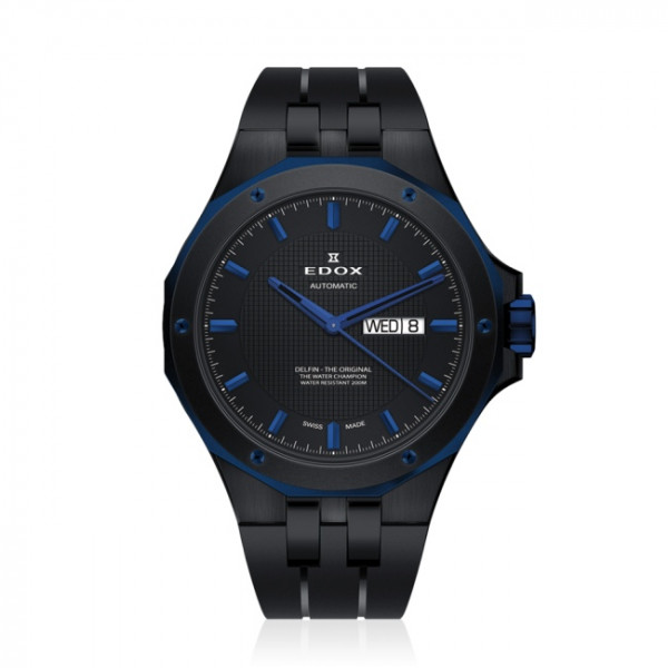 Edox Delfin Day Date Automatic Black - 88005-357BUNCA-NIBU