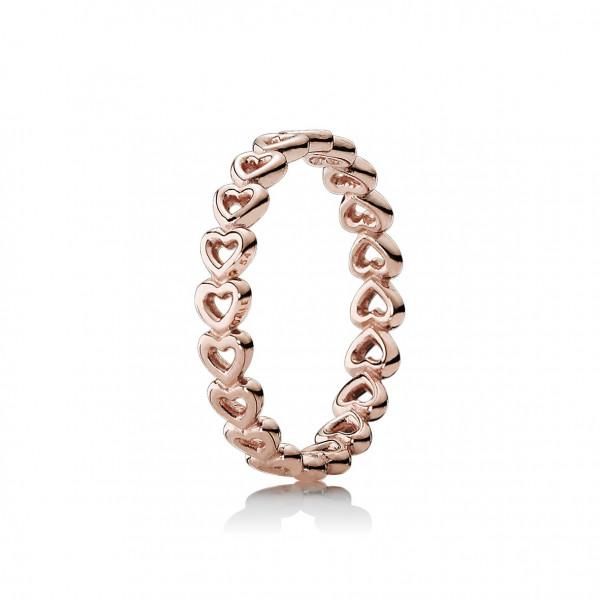 Ring Gereihte Herzen - 180177