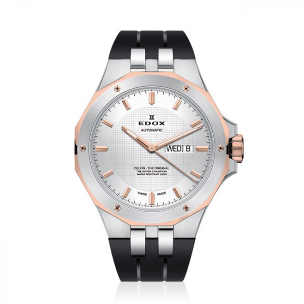 Edox Delfin Day Date Automatic Two Tone - 88005-357RCA-AIR