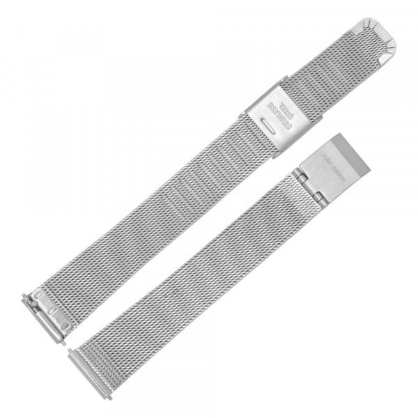 Julie Julsen Uhren-Armband Silber Mesh - EJJWMB1PIN