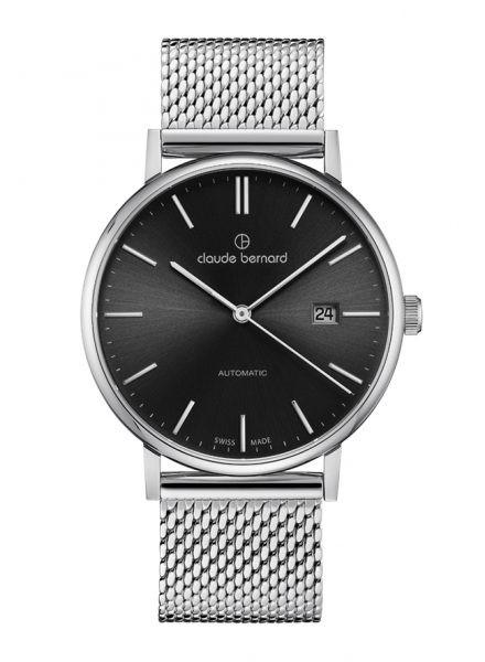 Claude Bernard Classic Automatic Slim Line Silber Anthrazit - 80102-3M-NIN