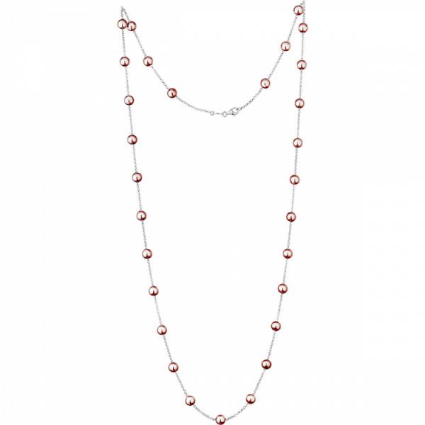 Der Kettenmacher Halskette Kugel Rosé - K-50R