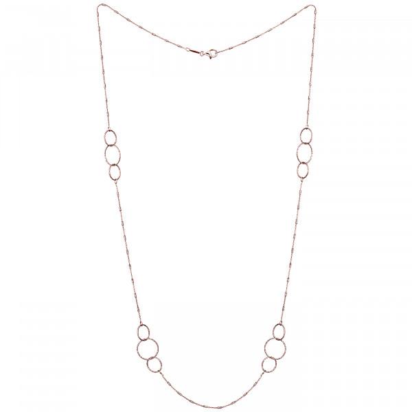 Der Kettenmacher Halskette Ring Rosé - FAR1-80R