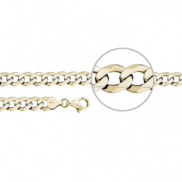 Der Kettenmacher Armband Panzerarmband Gold 7,9 mm