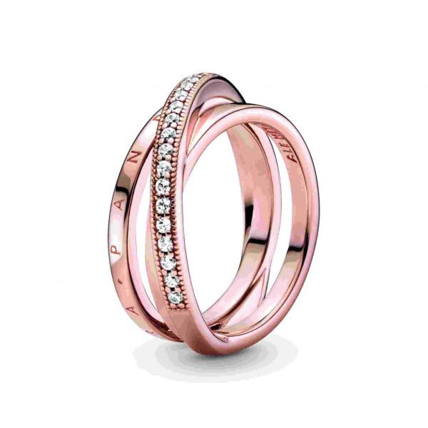 PANDORA Rose Ring Crossover Pavé Triple Band - 189057C01