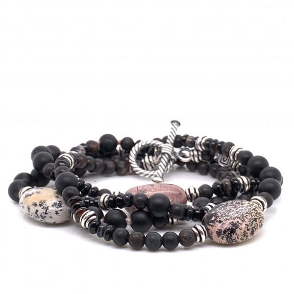 Halskette Brawny Armband 4-reihig