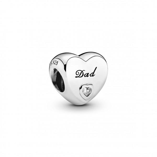 PANDORA Charm Dad Herz - 796458CZ
