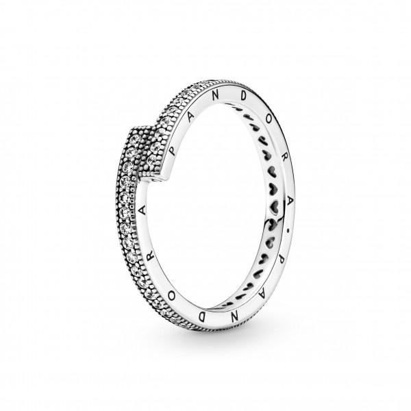 Pandora Ring Signatur Funkelnder überlappender Ring