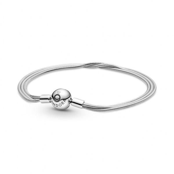 Pandora Mehrreihiges Schlangen-Gliederarmband - 599338C00