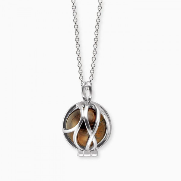 Engelsrufer Halskette Powerful Stone Tigerauge - ERN-HEALPARA-TE-XS