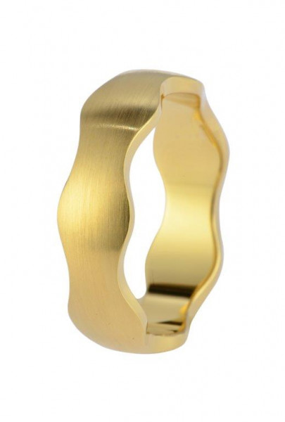 Veto Collect Edelstahlring Gold Welle Veto Collect 6 mm - R827