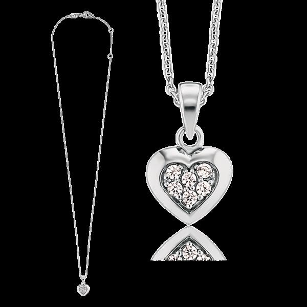Kinderschmuck Herzengel (HEN-HEART02-ZI) Halskette Herz mit Zirkonia