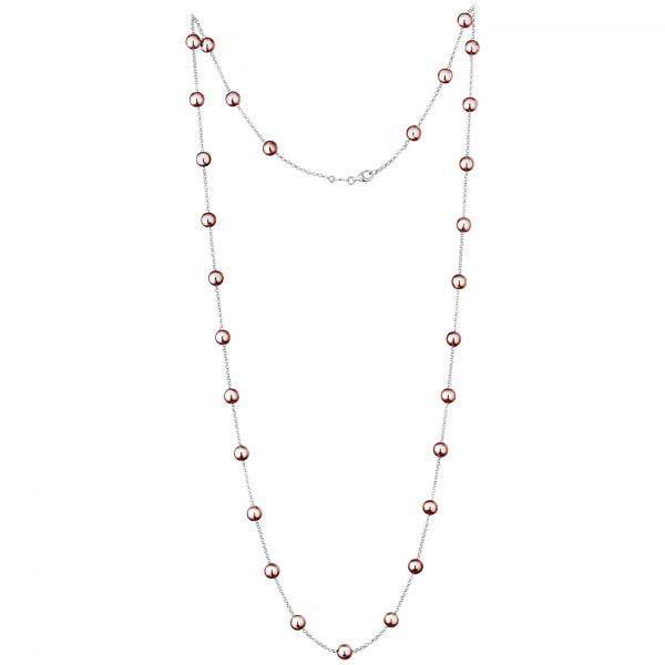 Der Kettenmacher Halskette Kugel Rosé - K-95R