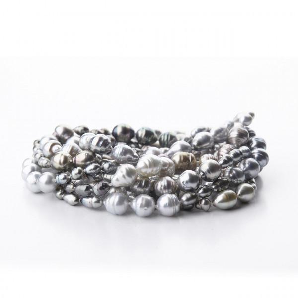 Tahiti Perlenkette Barock Länge 180
