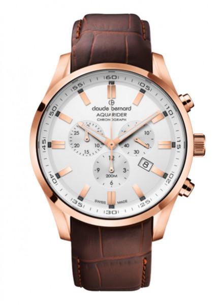 Claude Bernard Aquarider White Pink - 10222-37RC-AIR