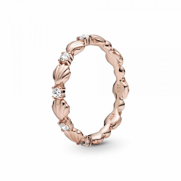 Pandora Rose Ring Stapelbar Perlen Muschel Band - 188946C01