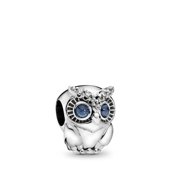 PANDORA Charm Sparkling Owl - 798397NBCB