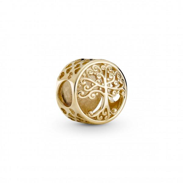 Pandora Gold Charm Familienstammbaum - 759132C00