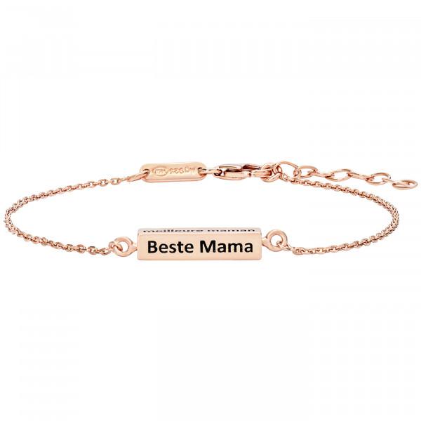 Julie Julsen Cube Armband Rosé Beste Mama - JJBR0446.2.41