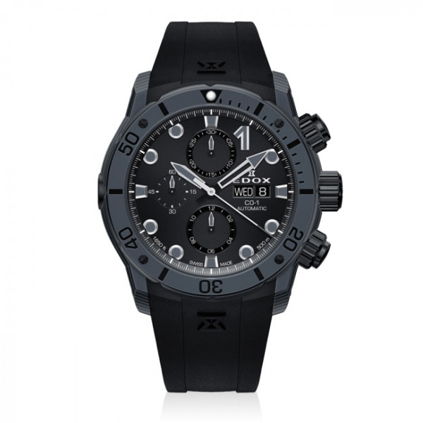 Edox CO-1 Carbon Chronograph Automatic - 01125 CLNGN NING