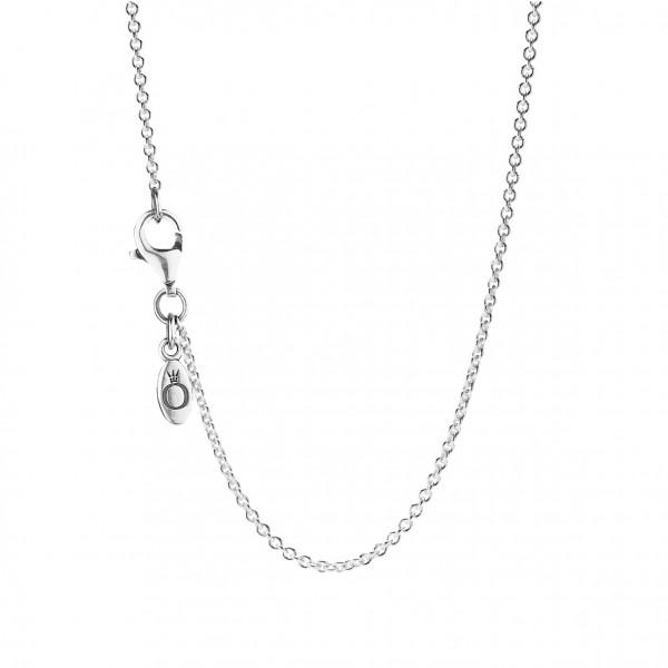 Silber Erbskette 45cm, verstellbar - 590412-45
