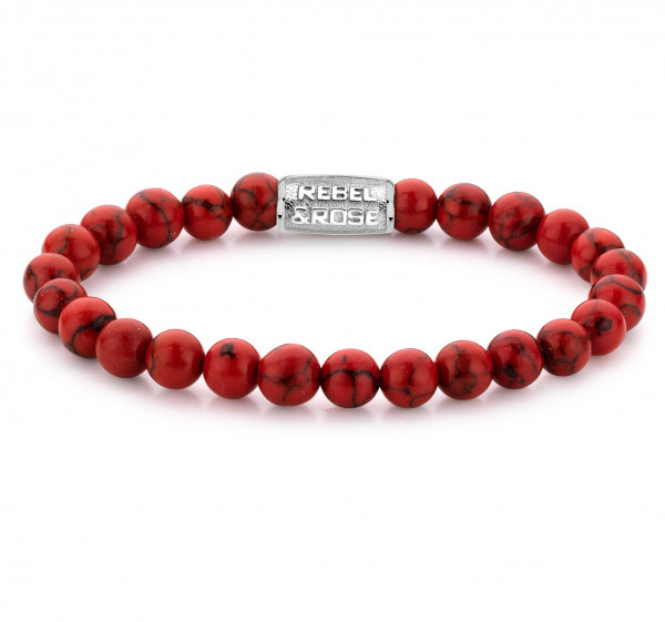 Rebel & Rose Armband Stones Red Delight