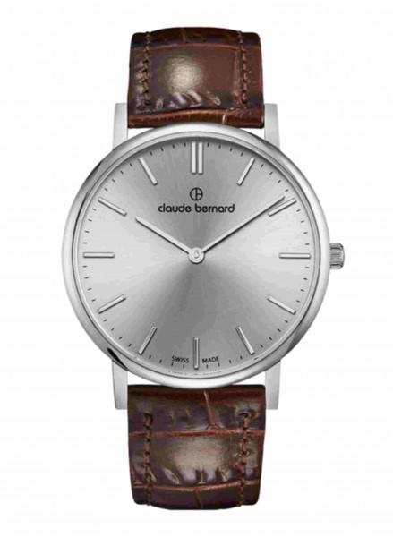 Claude Bernard Schweizer Quarz Uhr Classic Slim Line Silber - 20219-37J-AID