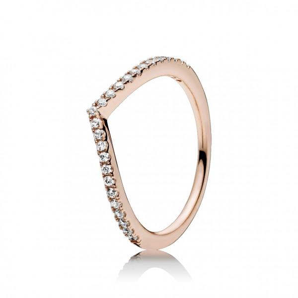 PANDORA Rose Ring Stackable Shimmering Wisch - 186316CZ