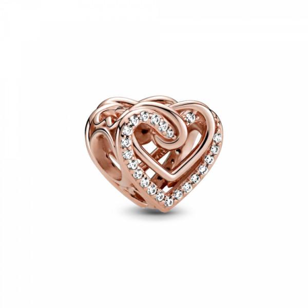 Pandora Rose Charm Verschlungene Herzen - 789270C01