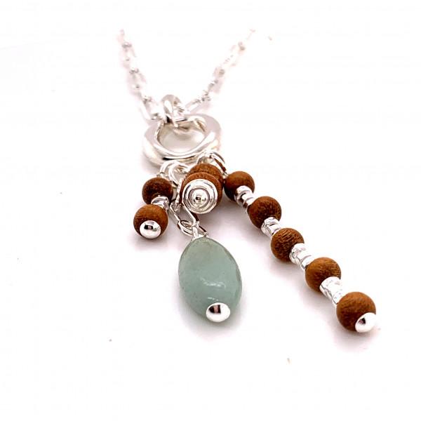 Halskette Peppy Meergrün Silber - 88-2052-04