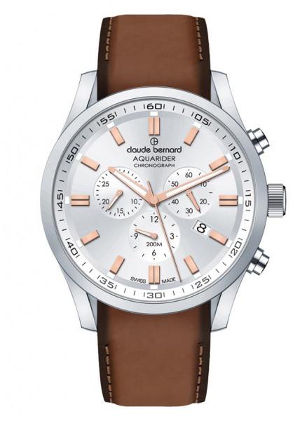 Claude Bernard Herrenuhr Aquarider Steel White Pink - 10222-3C-AIR