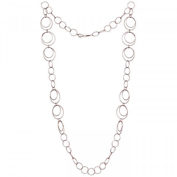 Der Kettenmacher Halskette Ring 3 Rosé - RK2-80R