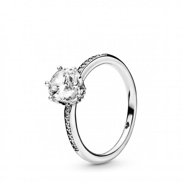 PANDORA Ring Clear Sparkling Crown - 198289CZ