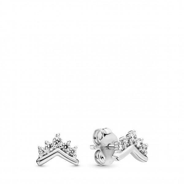 PANDORA Earring studs Tiara Wishbone - 298274CZ