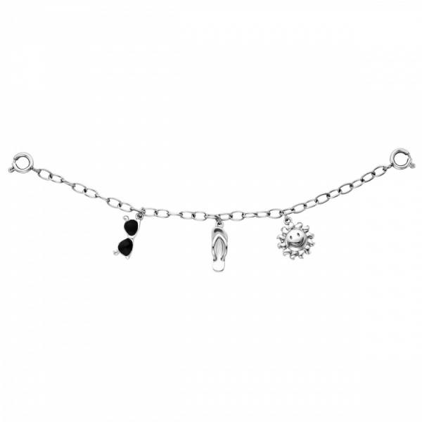 Julie Julsen Charming Sonne-Schuh-Brille Uhrenkette - JJCG25505-1