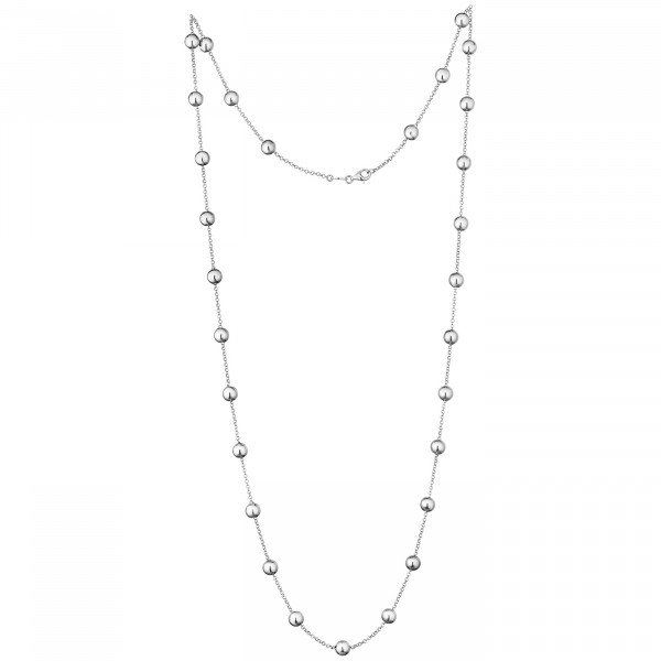 Der Kettenmacher Halskette Kugel Silber - K-50S