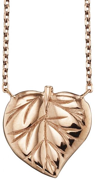 Schmuckkette Blatt Motiv Silber rosévergoldet, Julie Julsen Petite Collection - JJNE9828.2
