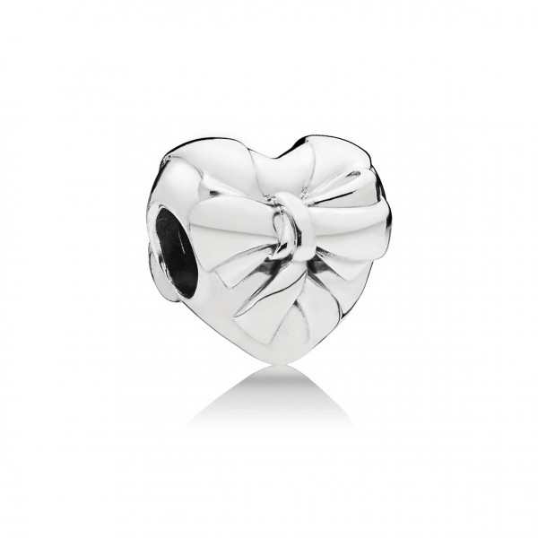 PANDORA Charm Brilliant Heart Bow - 797303