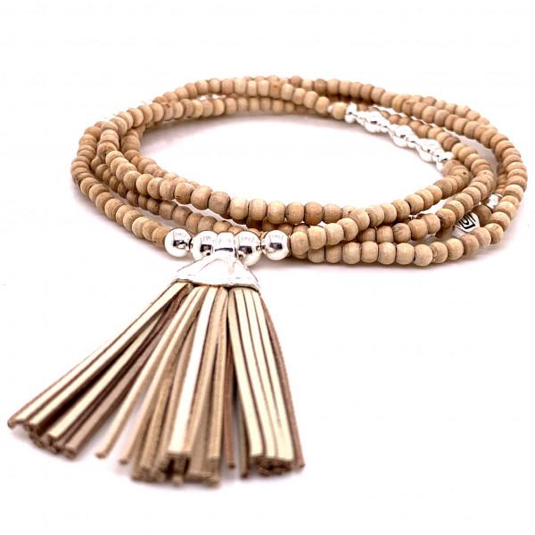 DaShanti Halskette Sober Holz - 88-2040-01-1