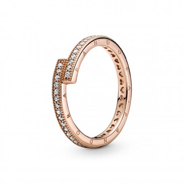 Pandora Rose Ring Signatur Funkelnder überlappender Ring