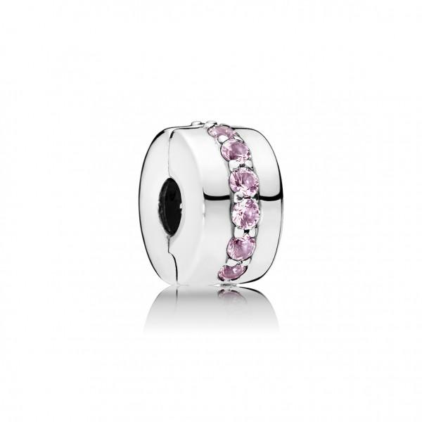 PANDORA Clip Charm Pink Shiny Path - 791972PCZ