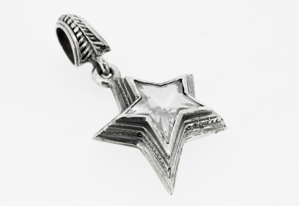 Pendant Shooting Star S, white Zirkonia