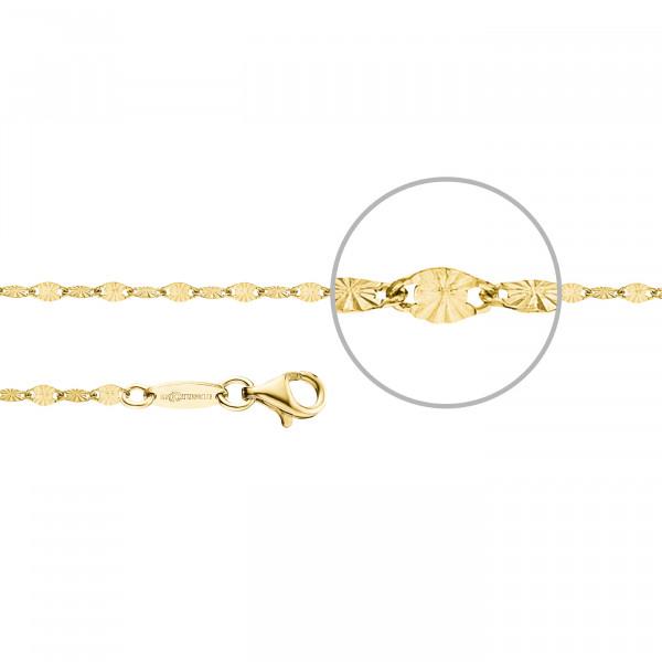 Kettenmacher Plättchen-Armband Gold - PL-19S